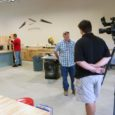 Jim Luckow being interviewed in construction show by channel 4