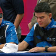 two mopar students signing their letters of intent to pima community college